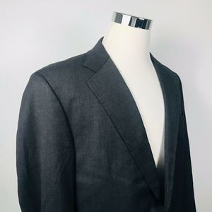 Brooks Brothers Mens 44L Sport Coat Charcoal Wool